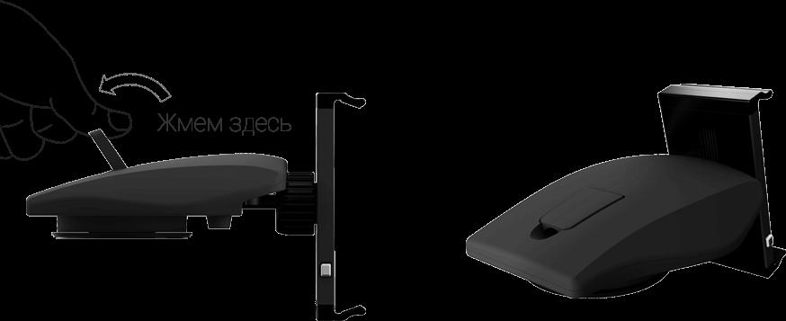 фото установки держателя Dash-NT на торпедо